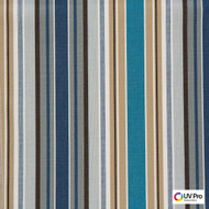 Uv Pro Fabrics - Strata River  | Curtain & Upholstery fabric - Blue, Outdoor Use, Stripe, Synthetic, Traditional, Commercial Use, Oeko-Tex,  Standard Width