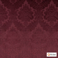 Fr One Fabrics - Gosh Fr Bordeaux  | Curtain & Upholstery fabric - Burgundy, Fire Retardant, Damask, Synthetic, Commercial Use, Domestic Use, Oeko-Tex, Standard Width