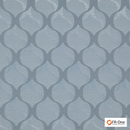 Fr One Fabrics - Giove Fr Myosotis  | Curtain & Upholstery fabric - Fire Retardant, Grey, Ogee, Synthetic, Commercial Use, Domestic Use, Oeko-Tex,  Standard Width