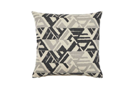 Weave - Kimya Cushion - Tar (Pack of 2)  | Cushion Fabric - Grey, Black - Charcoal, Weave, Abstract