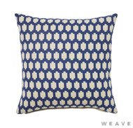 Weave - Madi Cushion - Pigment (Pack of 2)  | Cushion Fabric - Blue, Quatrefoil, Weave, Crosses