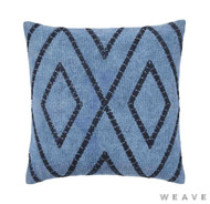 Weave - Shiso Cushion - Pigment (Pack of 2)  | Cushion Fabric - Blue, Weave, Diamond - Harlequin