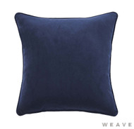 Weave - Zoe Cushion - Ink (Pack of 2)  | Cushion Fabric - Blue, Plain, Weave