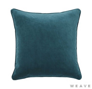 Weave - Zoe Cushion - Mallard (Pack of 2)  | Cushion Fabric - Blue, Plain, Weave