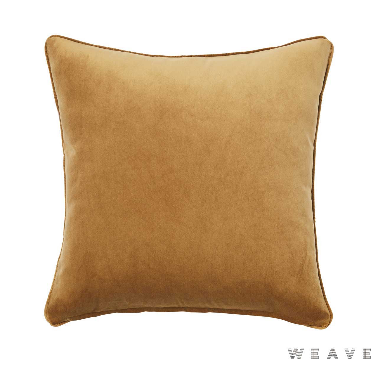 Weave - Zoe Cushion - Brass (Pack of 2)  | Cushion Fabric - Gold,  Yellow, Plain, Traditional, Weave