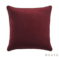 Weave - Zoe Cushion - Beetroot (Pack of 2)  | Cushion Fabric - Plain, Red, Traditional, Weave