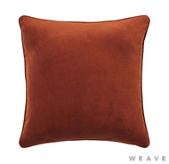 Weave - Zoe Cushion - Copper (Pack of 2)  | Cushion Fabric - Plain, Terracotta, Traditional, Weave