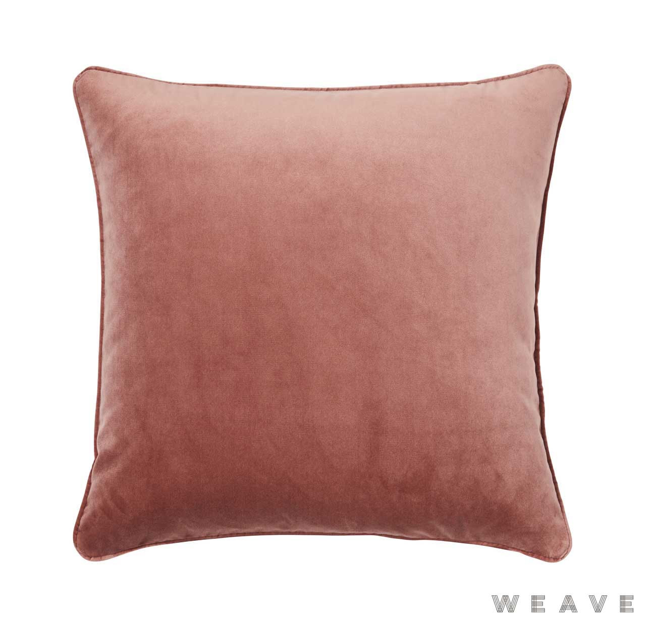 Weave - Zoe Cushion - Blush (Pack of 2)  | Cushion Fabric - Plain, Red, Traditional, Weave