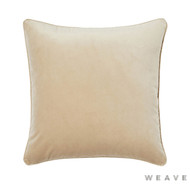Weave - Zoe Cushion - Barley (Pack of 2)  | Cushion Fabric - Beige, Gold,  Yellow, Plain, Traditional, Weave