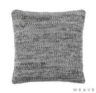 Weave - Monterey Cushion - Tar (Pack of 2)  | Cushion Fabric - Black - Charcoal, Weave