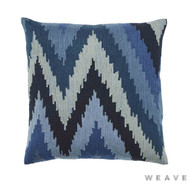 Weave - Haru Cushion - Pigment (Pack of 2)  | Cushion Fabric - Blue, Mediterranean, Weave, Flame Stitch