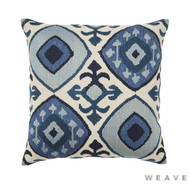 Weave - Kazu Cushion - Pigment (Pack of 2)  | Cushion Fabric - Blue, Ikat, Mediterranean, Weave