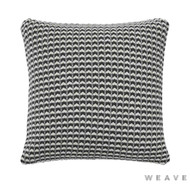 Weave - Sausalito Cushion - Tar (Pack of 2)  | Cushion Fabric - Grey, Black - Charcoal, Geometric, Multi-Coloured, Weave