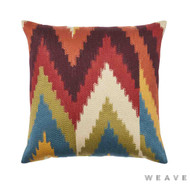 Weave - Cassia Cushion - Sumac (Pack of 2)  | Cushion Fabric - Blue, Red, Multi-Coloured, Mediterranean, Weave, Chevron, Zig Zag, Flame Stitch