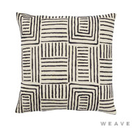 Weave - Congo Cushion - Tar (Pack of 2)  | Cushion Fabric - Basketweave, Black - Charcoal, Geometric, Weave