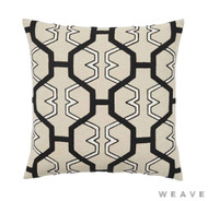 Weave - Zulu Cushion - Tar (Pack of 2)  | Cushion Fabric - Beige, Honeycomb, Mediterranean, Weave, Lattice, Trellis