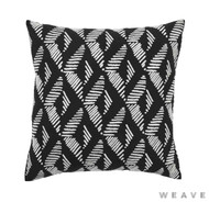 Weave - Lagos Cushion - Tar (Pack of 2)  | Cushion Fabric - Black - Charcoal, Stripe, Weave, Chevron, Zig Zag