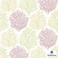 Sanderson Coral Reef 213391  | Wallpaper, Wallcovering - Beach, Floral, Garden, Pink, Purple, Domestic Use