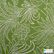 Duralee - 15508-213 - Lime  | Upholstery Fabric - Stain Repellent, Floral, Garden, Outdoor Use, Synthetic, Washable, Standard Width