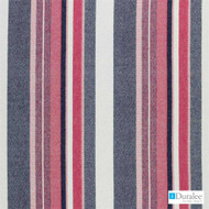 Duralee - 15629-54 - Sapphire  | Upholstery Fabric - Fire Retardant, Red, Fibre Blends, Stripe, Dry Clean, Standard Width