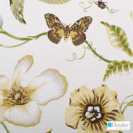 Duralee - 21052-66 - Yellow  | Curtain & Upholstery fabric - Gold,  Yellow, Floral, Garden, Linen and Linen Look, Natural Fibre, Dry Clean, Natural, Standard Width
