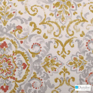 Duralee - 21059-562 - Platinum  | Curtain & Upholstery fabric - Gold,  Yellow, Floral, Garden, Linen and Linen Look, Natural Fibre, Dry Clean, Natural, Standard Width