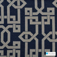 Duralee - 32509-206 - Navy    Curtain & Upholstery fabric - Blue, Synthetic, Dry Clean, Lattice, Trellis, Standard Width