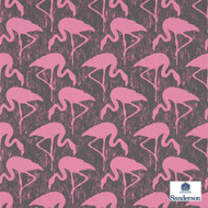 Sanderson Flamingos 214567  | Wallpaper, Wallcovering - Eclectic, Midcentury, Pink, Purple, Animals, Animals - Fauna, Domestic Use, Print, Birds
