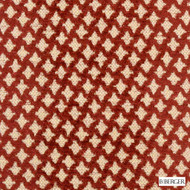 B. Berger - 71058-337 - Ruby  | Upholstery Fabric - Burgundy, Fire Retardant, Red, Terracotta, Fibre Blends, Ikat, Small Scale, Chenille, Diamond - Harlequin, Dry Clean