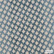 B. Berger - 71058-392 - Baltic  | Upholstery Fabric - Blue, Fire Retardant, Silver, Fibre Blends, Ikat, Small Scale, Chenille, Diamond - Harlequin, Dry Clean, Standard Width