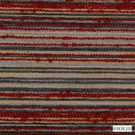 B. Berger - 71062-9 - Red  | Upholstery Fabric - Burgundy, Fire Retardant, Red, Silver, Terracotta, Stripe, Synthetic