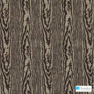 Duralee - 71072-103 - Chocolate  | Upholstery Fabric - Fire Retardant, Fibre Blends, Tan, Taupe, Chenille, Dry Clean, Moire, Standard Width, Wood Grain