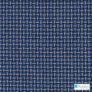 Duralee - 71093-206 - Navy  | Upholstery Fabric - Blue, Silver, Basketweave, Synthetic, Chenille, Dry Clean, Standard Width