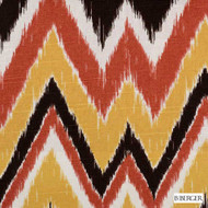 B. Berger - 72077-192 - Flame  | Curtain & Upholstery fabric - Burgundy, Gold,  Yellow, Red, Silver, Terracotta, Natural