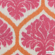 B. Berger - 72078-4 - Pink  | Curtain & Upholstery fabric - Silver, Medallion, Natural Fibre, Ogee, Pink, Purple, Natural