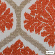 B. Berger - 72078-30 - Natural/Russett  | Curtain & Upholstery fabric - Burgundy, Red, Silver, Medallion, Natural Fibre