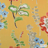 B. Berger - 72079-6 - Gold  | Curtain & Upholstery fabric - Burgundy, Gold,  Yellow, Silver, Floral, Garden, Dry Clean