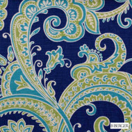 B. Berger - 72084-41 - Blue/Turquoise  | Curtain & Upholstery fabric - Blue, Silver, Linen and Linen Look, Natural Fibre