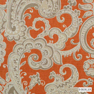 B. Berger - 72084-231 - Apricot  | Curtain & Upholstery fabric - Beige, Burgundy, Silver, Linen and Linen Look, Natural Fibre, Paisley, Dry Clean, Natural, Print