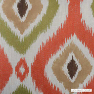 Highland Court - 300022H-356 - Chaka - Adobe  | Curtain & Upholstery fabric - Brown, Fire Retardant, Fibre Blends, Ikat