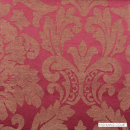 Highland Court - 800284H-716 - Zara - Chilipepper  | Curtain Fabric - Burgundy, Red, Damask, Linen and Linen Look, Silk