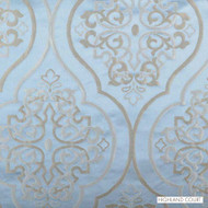 Highland Court - 800293H-157 - Bellissimo - Chambray  | Curtain Fabric - Blue, Fire Retardant, Damask, Fibre Blends, Ogee