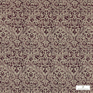 Zoffany Edensor 331902  | Curtain & Upholstery fabric - Craftsman, Damask, Natural Fibre, Pink, Purple, Traditional, Washable, Domestic Use, Natural, Standard Width