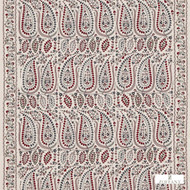 Zoffany Jayshree 331627  | Curtain Fabric - Red, Eclectic, Fibre Blends, Paisley, Commercial Use, Domestic Use, Semi-Plain, Standard Width