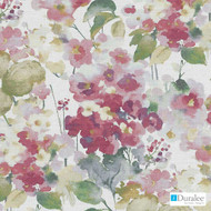 Duralee - Dp61444-122 - Blossom  | Curtain Fabric - Floral, Garden, Natural Fibre, Pink, Purple, Traditional, Dry Clean, Natural, Print, Standard Width, Watercolour