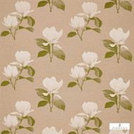 Zoffany Kobushi Magnolia 322463  | Curtain Fabric - Farmhouse, Fibre Blends, Floral, Garden, Domestic Use, Standard Width