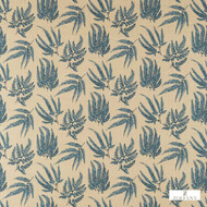 Zoffany Kernow 322385  | Curtain Fabric - Blue, Fibre Blends, Floral, Garden, Commercial Use, Domestic Use, Standard Width