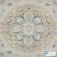 Duralee - Du16077-15 - Grey  | Upholstery Fabric - Beige, Medallion, Mediterranean, Synthetic, Backing, Chenille, Backing