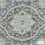 Duralee - Du16077-23 - Peacock  | Upholstery Fabric - Silver, Medallion, Mediterranean, Synthetic, Turquoise, Teal, Backing
