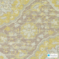 Duralee - Du16077-240 - Gold/Silver  | Upholstery Fabric - Gold,  Yellow, Medallion, Mediterranean, Suzani, Synthetic